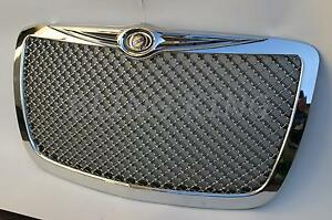 Fits Chrysler 300 Chrome Mesh Grill Bentley Grille Full Replacement Trim