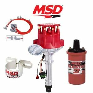 Msd 9900 Ignition Complete Kit Ready To Run Distributor wires coil bracket Sbc