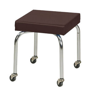 Physical Therapy Therapist Scooter Stool Burgundy