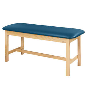 Treatment Exam Table Flat Top Wooden H brace Frame 24 Wedgewood