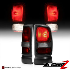 1994 2001 Dodge Ram 1500 Smoke Dark Red Brake Tail Lights 94 02 Ram 2500 3500