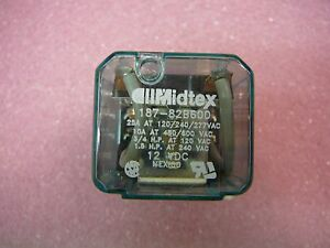 Midtex Electromechanical Relay 12vdc 120 Ohm 20a Dpdt Tht Power Relay new