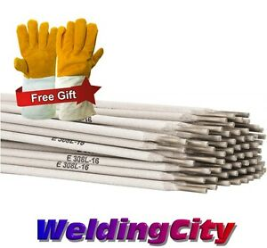 5 lb E308l 16 1 8 Stainless Steel Stick Welding Electrode Rod With Free Gloves