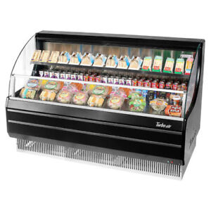 Turbo Air Tom 60lb Black Open Display Case Cooler Low Profile