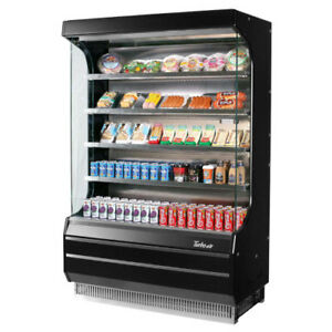 Turbo Air Tom 50b Black Vertical Open Display Case Cooler Full Height