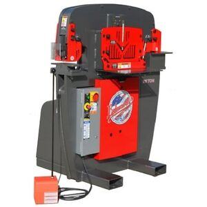 Brand New Edwards 55 Ton Iron Worker Plus 9 Standard Round Punch