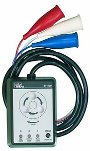 Ideal Industries 61 520 3 Phase Motor Rotation Tester new