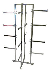 Lingerie Rack 4 Way Folding 12 Arms Women Clothing Display Chrome Lot Of 10 New