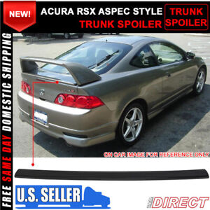 02 06 Acura Rsx Dc5 Aspec Mini Decklid For Tr Style Trunk Spoiler Abs