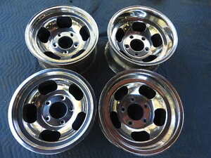 Vintage Set Polished 15x7 8 5 Us Indy Mag Style Mags 5 On 5 1 2 Ford Pickup