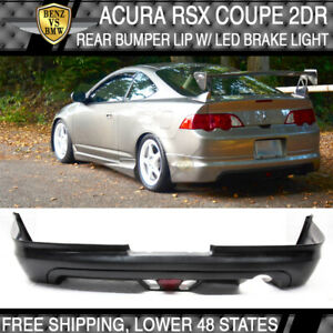 Fits Acura Rsx Coupe 02 04 Mugen Style Rear Bumper Lip Spoiler Led Brake Lamp