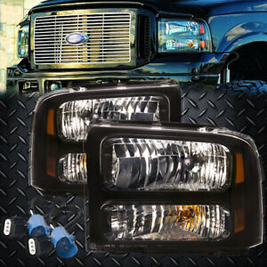 99 04 Ford Superduty Excursion Conversion 07 Black Harley Headlights