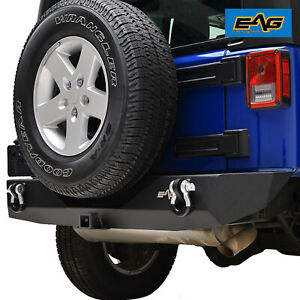 Eag Rear Bumper Guard With 2 hitch Receiver Fit 07 18 Jeep Wrangler Jk Offroad