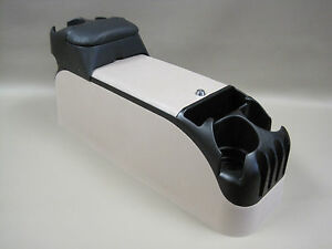 Tan Center Console With Black Tip Up Armrest Crown Victoria P71 Police 1999 2005