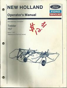 New Holland Model 157 Hay Tedder Operator s Manual 11 90 Original Oem 43015711