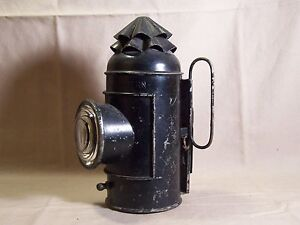 Antique Kerosene Nautical Decor Boat Signal Lantern Light Lamp Lens Hand Wall