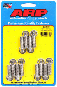 Arp 400 1109 Header Bolts Sbc 5 16 Wrench Head Stainless Hex Head 1 00 L