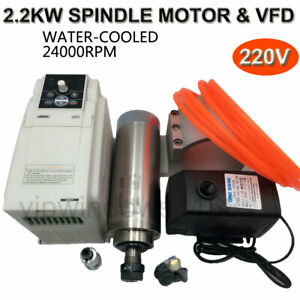2 2kw Spindle Motor Er20 Water cooled 3 7kw Vfd Inverter mount Bracket Cnc Set