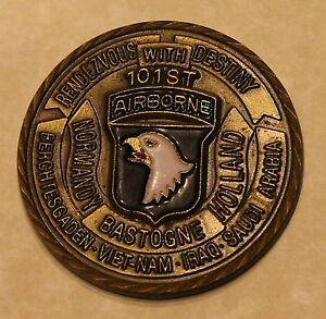 101st Airborne 7th Aviation Regt Eagle Lift Commander Army Challenge Coin