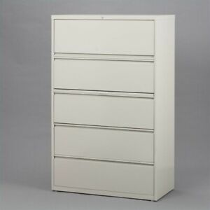 Hirsh Hl10000 Series 30 5 Drawer Lateral File Cabinet In Gray