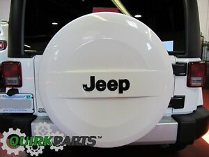 07 19 Jeep Wrangler Jk P255 70r18 White Hard Surface Spare Tire Cover Oem Mopar