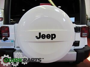 2007 2018 Jeep Wrangler P255 70r18 White Hard Surface Spare Tire Cover Oem Mopar