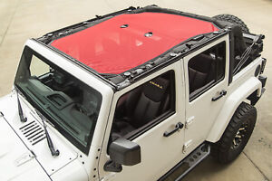 Jeep Wrangler Jk 4 Door 2007 2018 Eclipse Sun Shade Red 13579 25 Rugged Ridge