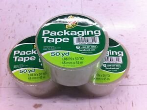 3 Rolls Clear Duck Packaging Packing Carton Shipping Tape 1 88 X 50 Yards