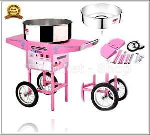 Candy Cotton Floss Maker Machine Cart Commercial Confectionery Counter top Shop