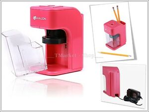 School Pink Electric Pencil Sharpener Titanium Blades Office Schools Supply Kids