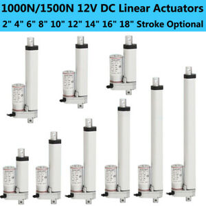 Heavy Duty 2 18 Inch Linear Actuator 220 330lbs Max Lift 12v Dc Electric Motor
