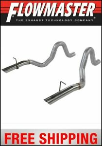 Flowmaster 1987 1993 Mustang Prebent Tailpipes 3 Rear Exit W Stainless Tips