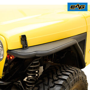 Eag 97 06 Jeep Tj Wrangler Front Fender Flares Rock Guard Textured Tube