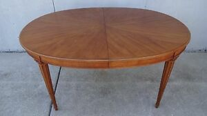 Vintage Mid Century Henredon Dining Oval Table Neoclassical Empire 6 Chairs Koi