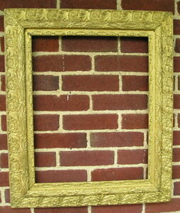 Antique Aesthetic Eastlake Victorian Very Ornate Gold Picture Frame 16 X 20