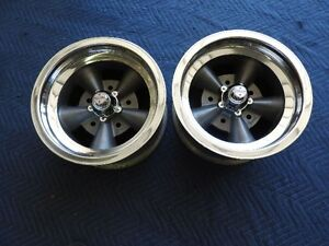 Ultra Rare Vintage Pair Imco Torque Thrust Style Polished Lip 14x7 Ford 5 1 2
