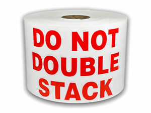 500 Large Labels 3x5 Red White Do Not Double Stack Pallet Skid Shipping Stickers
