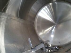 5000 Gallon Horizontal Sanitary Stainless Steel Tank Cold Wall