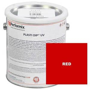 Plasti Dip 1 Gallon Can Uv Concentrate unthinned Matte Red