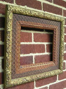 Antique Aesthetic Eastlake Victorian Unusual Floral Surface Picture Frame 8 X 10