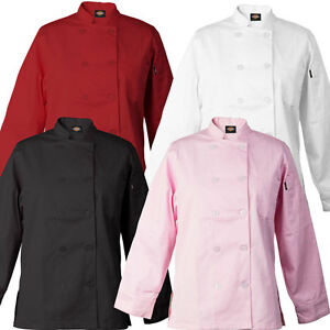 Dickies Bettina Women s Chef Coat Flattering Fit 10 Button Chef Jacket Dc115