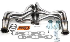 Doug s Headers D3321 r Headers Full length Steel Natural Chevy Pontiac Pair