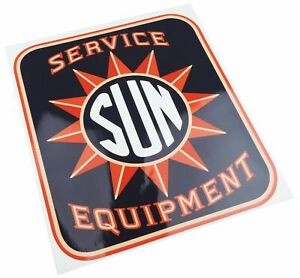 Sun Electric Service Equipment Tune Up Machine Cabinet Logo Decal Testing 1950 S