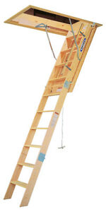 Werner 10 foot Wood Attic Ladder Heavy Duty Model Wh3010