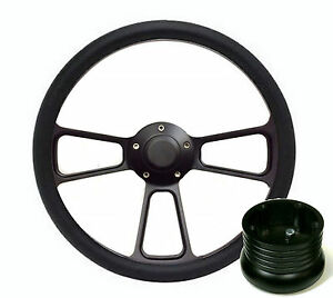 Hot Rod Street Rod Rat Rod Truck Black Pbk Billet Steering Wheel Horn