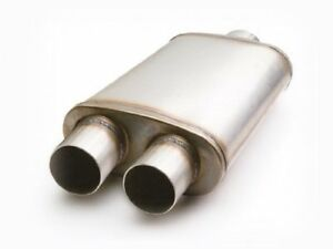 Etc 49288 Performance Muffler Stainless Single Inlet dual Outlet 3 In 2 5 out
