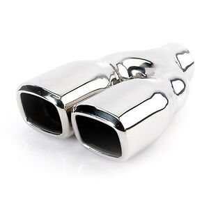 Etc Dt 24022dl Stainless Exhaust Tip Square 2 25 Inlet Dual 3 2 Outlet 9 5 L