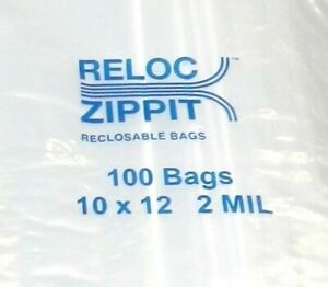 1000 Ziplock Bags 10 X 12 Clear 2 Mil Large Reclosable Zippit Reloc A1 Quality