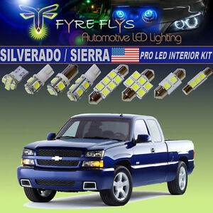 14x Xenon White Led Interior Lights Pro Package Kit 1999 2006 Silverado Sierra