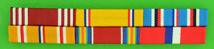 WWII Army Philippines Asia Pacific Service Mounted 6 Ribbon Bar WW2 $19.49
